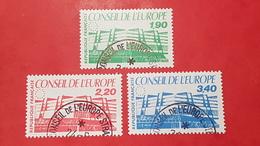 Timbres De Service N° 93 à 95  Avec Oblitèration Cachet à Date Du Conseil De L'Europe  TTB - Usados