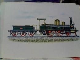 TRENO TRAIN Locomotive Jones Potts Newton : 1848 Locomotiva Quatro Ruote Accopiate Cilindri Esterni Orizzon N1975 GU2913 - Eisenbahnen