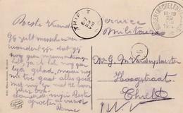 Kaart (Muysen Kasteel De Betzenbroeck) Op 20.VIII.14 Van Depot Relais Muysen(Mechelen) Naar Thielt 23.VIII Aankomst. - WW I