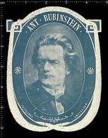 Old Dutch Poster Stamp Cinderella Reklamemarke Erinnofili Publicité Vignette Anton Rubinstein Russian Pianist Composer - Musik