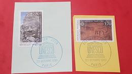 Timbres De Service N° 110 à 111 Avec Oblitèration Bleu De L'Unesco  TTB - Usados