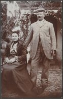 A Couple At Hastings, Sussex, C.1905 - Alfred Peplow RP Postcard - Hastings