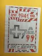 8723 - 1291- 1941- 1991 50 Ans  Suisse Gudet Perroy - Militaire