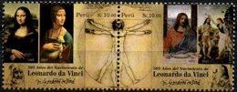 Peru 2018 ** Leonardo Da Vinci. Pintor, Anatomista, Arquitecto, Paleontólogo, Artista, Botánico, Científico, Escritor, - Peru