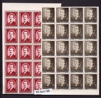 1939 Poete Mihai Eminescu Mi No 596/597 Et Yv No 568/569 2v.-MNH X 20 Roumanie / ROMANIA - Other