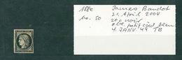 FRANCE Collection Cérès #34 Timbre N°3 Cachet à Date Bleu 4 Janvier 1849 TB - 1849-1850 Ceres