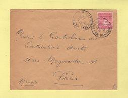 Arc De Triomphe - 1f50 Seul Sur Lettre - Villemomble - Banlieue Est - 20-10-1944 (debut D Utilisation) - Marcophilie (Lettres)