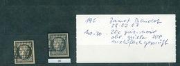 FRANCE Collection Cérès #36 Timbre N°3 20 Centimes Nuance Gris Noir SUP Signé - 1849-1850 Ceres