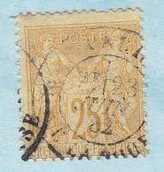 France Année 1877-1880 Sage Type II N° 92a (o) Lot 823 - 1876-1898 Sage (Type II)