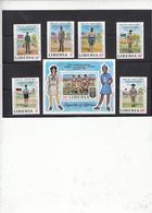 LIBERIA  1971 - Yvert  534/39 + BF 55 - Scout - Gebruikt