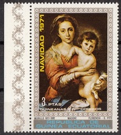 7224 Guinea Equatoriale 1971 Natale Virgin With Child Quadro Dipinto Da Murillo Museo PITTI  Nuovo MNH Painting - Madonnen