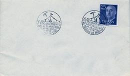 1959 , ASTURIAS , CANGAS DE ONIS , MAT. CONMEMORATIVO DEL XVIII CAMPAMENTO INTERNACIONAL DE ALTA MONTAÑA - 1951-60 Cartas