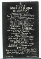 Ger412 / Propagandakarte. Aus Friedrichsruh, Danksagung An Bismarck Nach Hannover Gelaufen. - Allemagne