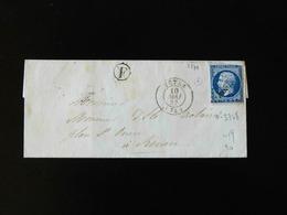 LETTRE DE TOTES POUR ROUEN  -  1857  -    EMPIRE FRANC  NON DENTELE  - - Storia Postale