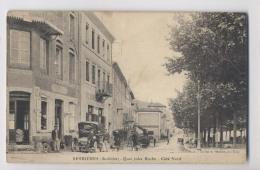 SERRIÈRES (07 - Ardèche) - 1918 - Quai Jules Roche - Côté Nord - Commerce Coiffeur - Animée - Serrières