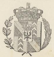 La Chaux De Fonds Passeport 1829 Principauté De Neufchâtel Et Valangin En Suisse Sigle Fleur + Héraldique - Documentos Históricos