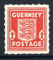 GUERNSEY 1941 Arms 1d. Definitive MNH / **. Michel 2u - Occupation 1938-45