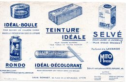 Buvard Produits D'entretien, Teinture Idéale, Idéal-boule, Selvé, Rondo, Idéal-décolorant. - Produits Ménagers