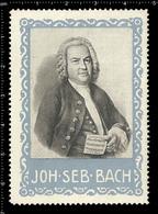 Old Original German Poster Stamp Cinderella Reklamemarke Vignette Johann Sebastian Bach German Composer - Music