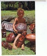 MARQUISES...  SCULPTURES  MARQUISIENNES    CPM  TBE - Polynésie Française