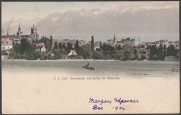 Vue Prise De Beaulieu, Lausanne, 1904 - Jullien Frères U/B CPA - VD Vaud