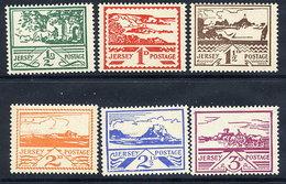 JERSEY 1943 VIEWS Definitive Set MNH / **.  Michel 3-8 - Occupation 1938-45