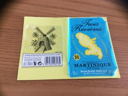 Etiquette « RHUM Trois Rivières - Martinique» (Moulin) - Rhum