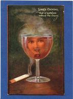 CPA Surréalisme Montage Alcool Cigarette Femme Girl Women Oilette Circulé - Fotografía