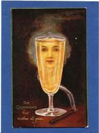 CPA Surréalisme Montage Alcool Femme Girl Women Oilette Circulé Champagne Cigare - Fotografía
