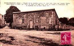 Henrichemont. Façade De La Première Maison Bâtie Par Jacques Cartier. - Henrichemont