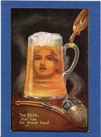 CPA Surréalisme Montage Alcool Femme Girl Women Oilette Circulé Bière Beer Pipe Tabac - Fotografía
