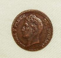 Monaco Honoré V, 1837 MC, 5 Centimes Vz/xf - Sonstige