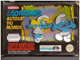 Cartouche Jeu Super Nintendo Les Schtroumpfs Autour Du Monde. - Electronic Games
