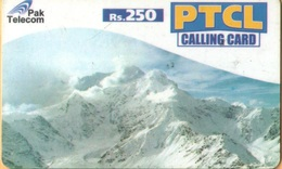Pakistan - PTCL, Mountain With Snow, Remote Memory, Rs.250, Used - Pakistan