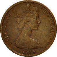 Monnaie, Nouvelle-Zélande, Elizabeth II, Cent, 1975, TTB, Bronze, KM:31.1 - New Zealand