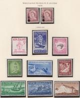 New Zealand    .     SG   .     Page  With Stamps    .       *   .    Mint-hinged   .   /   .   Ongebruikt - Ongebruikt