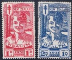 New Zealand    .     SG   .   546/547     .       *   .    Mint-hinged   .   /   .   Ongebruikt - 1907-1947 Dominion