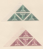New Zealand    .     SG   .   636/637  4x  .       *   .    Mint-hinged   .   /   .   Ongebruikt - 1907-1947 Dominion