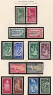 New Zealand    .     SG   .   Page With Stamps  .       *  / O      .    Mint-hinged     And Cancelled - 1907-1947 Dominion