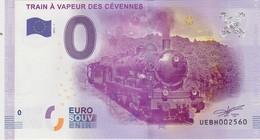 BILLET TOURISTIQUE 2016 TRAIN  A VAPEUR DES CEVENNES - Essais Privés / Non-officiels