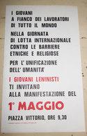 VOLANTINO GIOVANI LENINISTI MANIFESTAZIONE 1° MAGGIO 1989 - Programmi