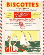 Buvard Biscottes Pelletier. N° 12, La Mer. - Biscottes