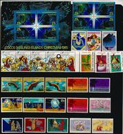 Célébration De Noël  à L'île COCOS (Océan Indien) 30 Timbres Neufs **, En Séries Complètes. Côte 45,00 € EUR. 1980's - Cocos (Keeling) Islands