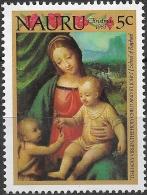 NAURU 1983 Christmas - 5c - The Holy Virgin, Holy Child And St. John (School Of Raphael) MH - Nauru