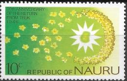 NAURU 1976 30th Anniv Of Islanders' Return From Truk - 10c Flowers Floating Towards Nauru MH - Nauru