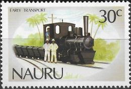 NAURU 1986 Early Transport On Nauru - 30c - German-built Steam Locomotive, 1910 MH - Nauru