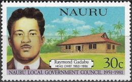 NAURU 1981 30th Anniv Of Nauru Local Government Council. Head Chiefs - 30c - Raymond Gadabu MH - Nauru