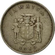Monnaie, Jamaica, Elizabeth II, 5 Cents, 1969, Franklin Mint, TTB - Jamaique