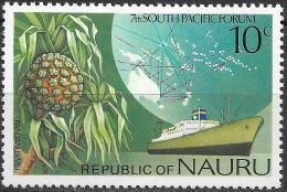 NAURU 1976 South Pacific Forum, Nauru - 10c Pandanus Mei And Enna G (cargo Liner) MH - Nauru