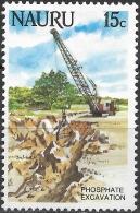 NAURU 1984 Life In Nauru - 15c - Excavating Phosphate MH - Nauru